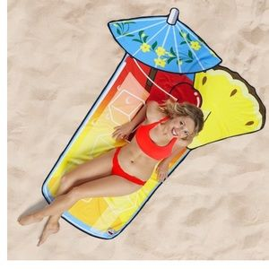 Gigantic Tropical Cocktail Drink Beach Blanket NEW